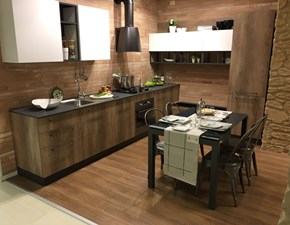cucina modello industriale materico e laccato opaco white in offerta completa di set elettrodomestici hotpoint