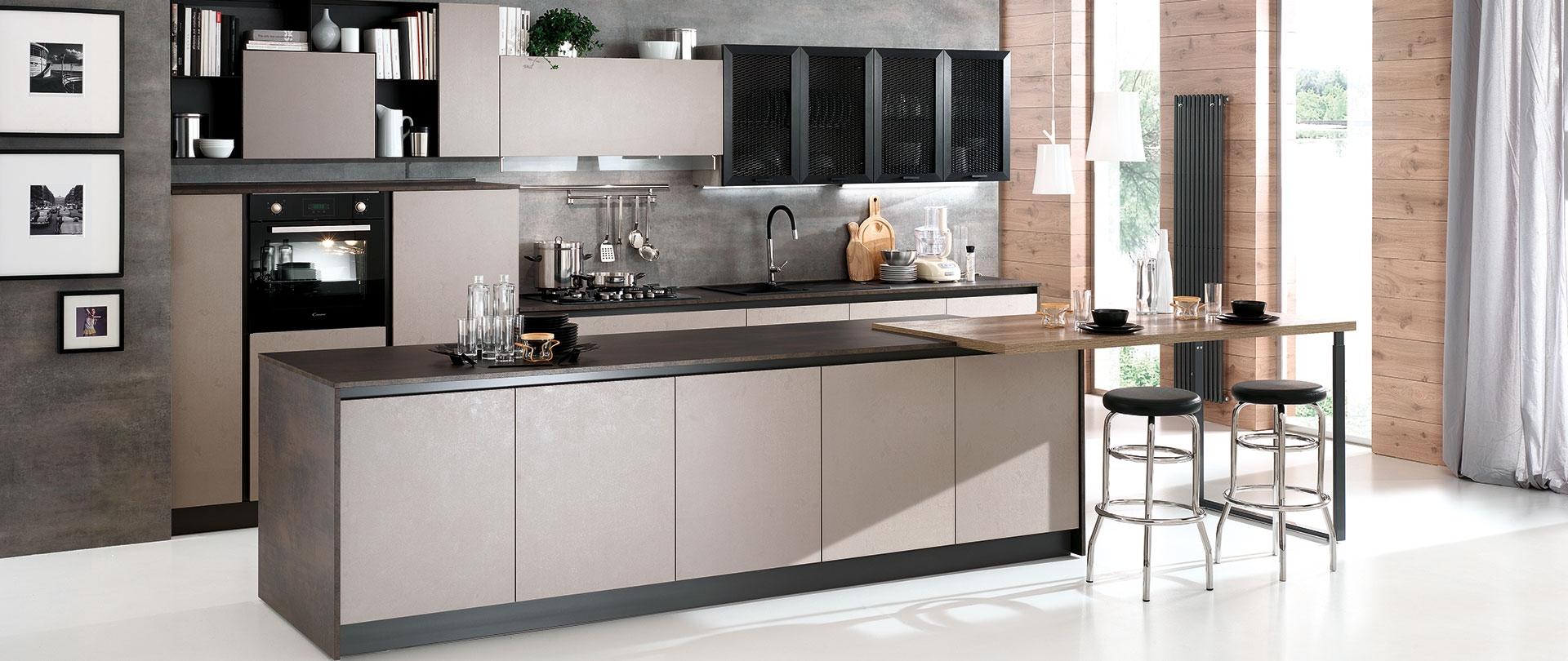 Nuovi mondi cucine cucina cucina isola maxi essenza - Disposizione elettrodomestici cucina ...