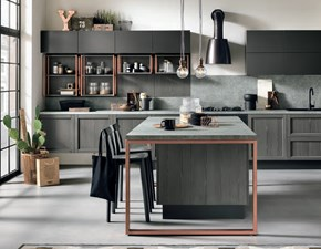 cucina legno grigia modello industrial offerta pezzo  Moderne Legno Grigio completa del set eldom hotpoint a+