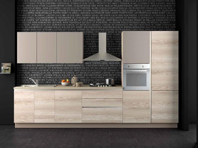 Nuovi Mondi Cucine Cucina Cucina lineare frassino sabbia lineare ...