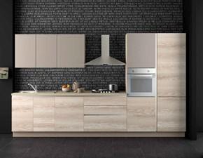 Nuovi Mondi Cucine Cucina Cucina lineare frassino sabbia lineare moderna con gola in offerta nuovimondi outlet