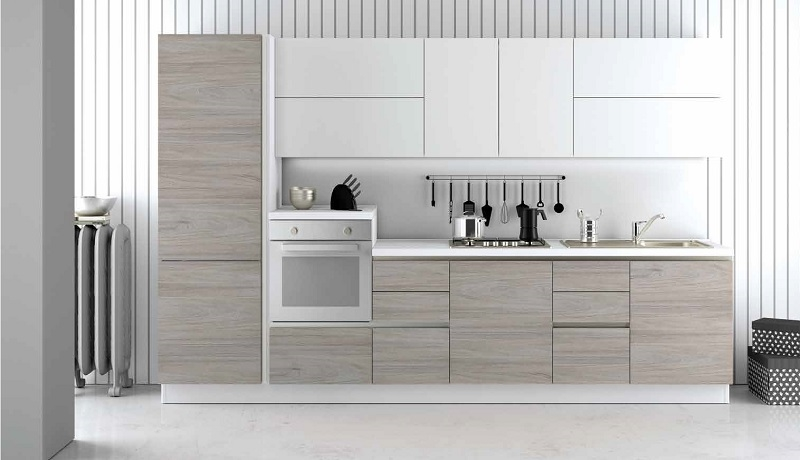 Nuovi mondi cucine cucina cucina lineare zen moderna in for Cucina lineare offerta