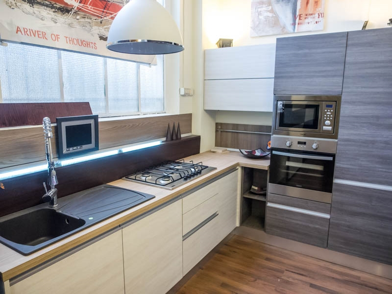 Nuovi mondi cucine cucina cucina moderna angolare completa in offerta nuovimondi cucine scontato - Cucina completa prezzi ...