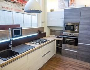 Cucina bianca laccata moderna essential white offerta convenienza - Cucina completa angolare ...