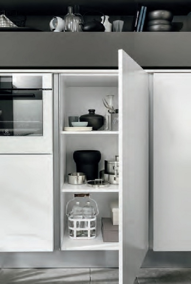 Nuovi mondi cucine cucina cucina moderna anta con maniglie - Isola cucina moderna ...