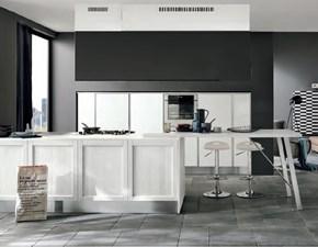 Cucina Nuovi Mondi Cucine Cucina moderna anta con maniglie integrata e isola in offerta nuovimondi scontato del -57 %