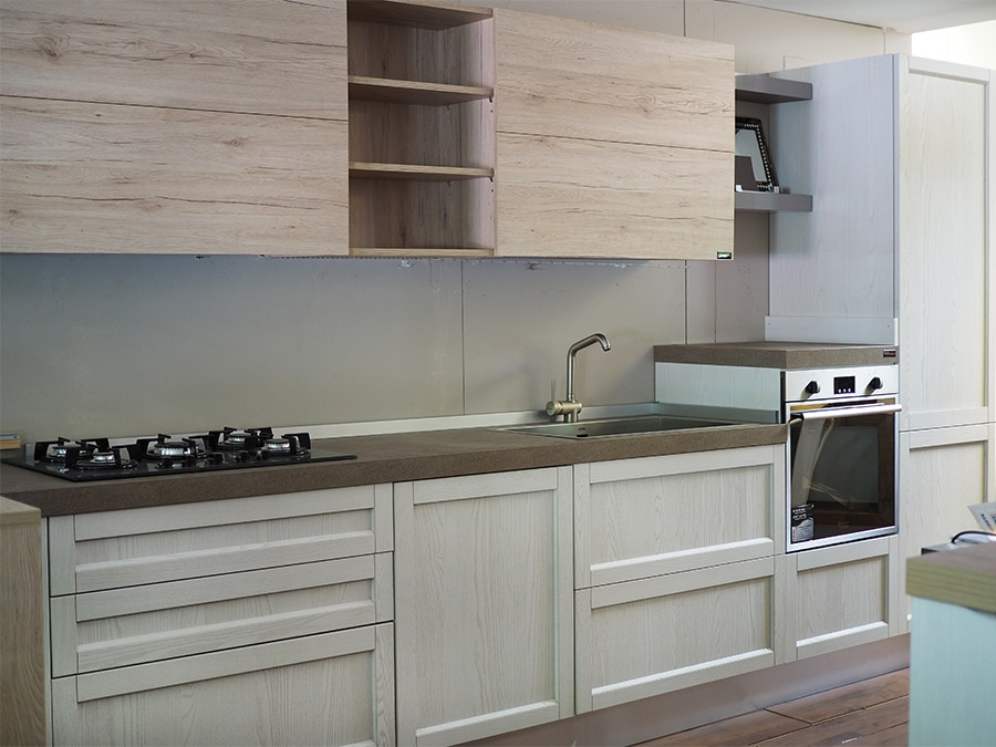 Nuovi mondi cucine cucina cucina moderna con penisola da for Outlet del mobile torino
