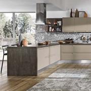cucina con penisola moderna i integrata essential in offerta outlet nuovimondi completa di set elettrodomestici