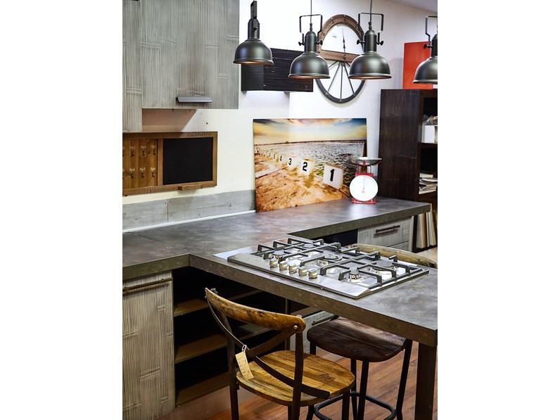 Nuovi mondi cucine cucina cucina moderna legno e bambu grey modello con penisola design in offerta - Cucine di design in offerta ...