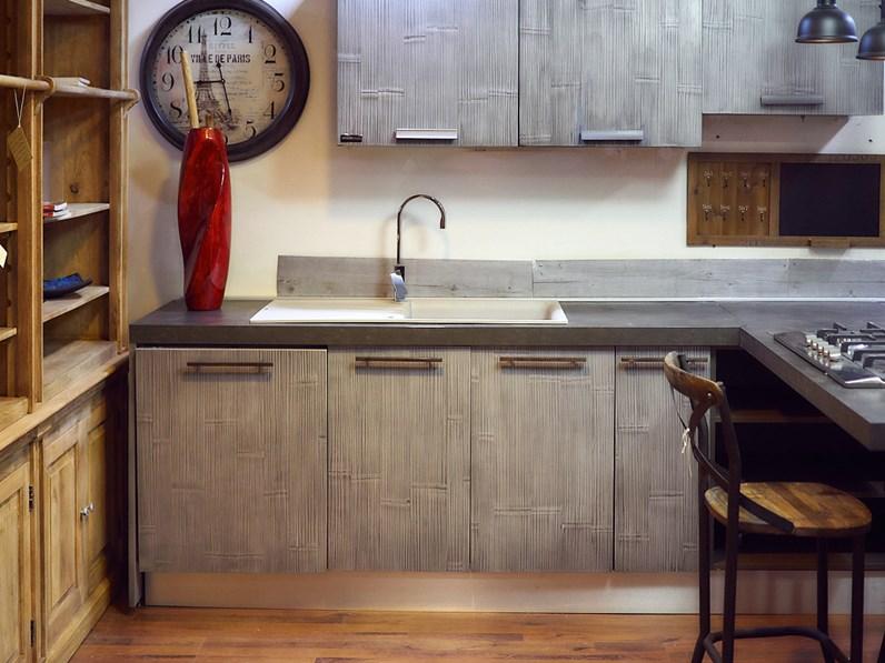 Nuovi Mondi Cucine Cucina Cucina moderna legno e bambu grey ...