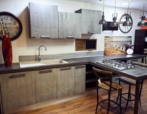 Nuovi Mondi Cucine Cucina Cucina moderna legno e bambu grey modello con penisola design  in offerta