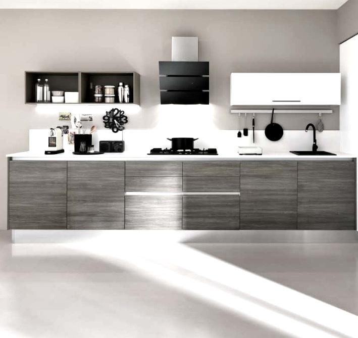 Nuovi mondi cucine cucina cucina moderna lineare gola in - Cappa cucina moderna ...