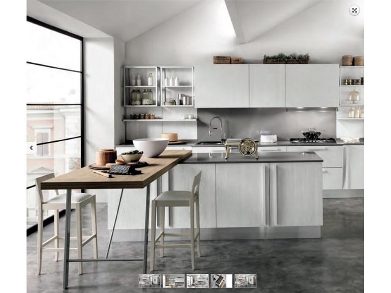 Nuovi Mondi Cucine Cucina Cucina shabby vintage chic con isola e piano  snack in offerta outlet nuovimondi scontato del -54 %