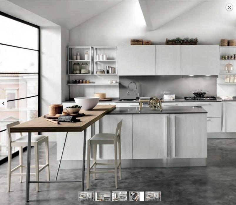 Nuovi mondi cucine cucina cucina shabby vintage chic con - Cucina con snack ...