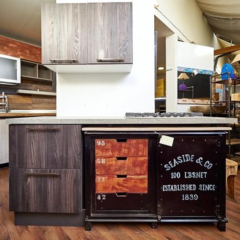 outlet Nuovi Mondi Cucine Cucina Cucinotta in stile industriale in ferro e legno in offerta nuovimondi Industriale
