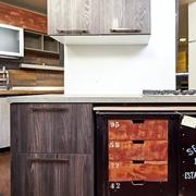 cucinotta in stile industriale in ferro e legno in offerta nuovimondi