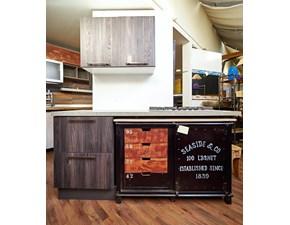 cucina moderna lineare vero industriale legno e ferro in offerta