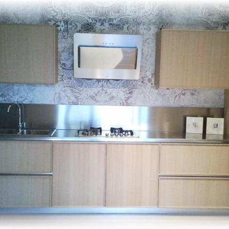 Occasione Cucina lineare Creta Frame in Rovere Light scontata del ...