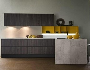 OFFERTA Cucina ad angolo con bancone LINEA di CUCINE STORE (340X215cm)