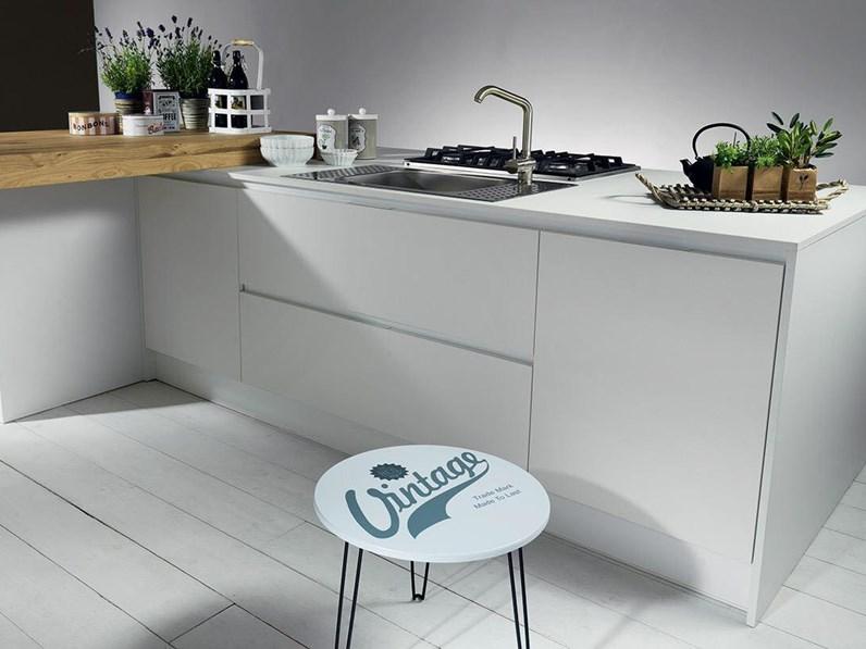 OFFERTA cucina ad isola MOD VINTAGE DI CUCINESTORE 240CM + 240X120CM ...