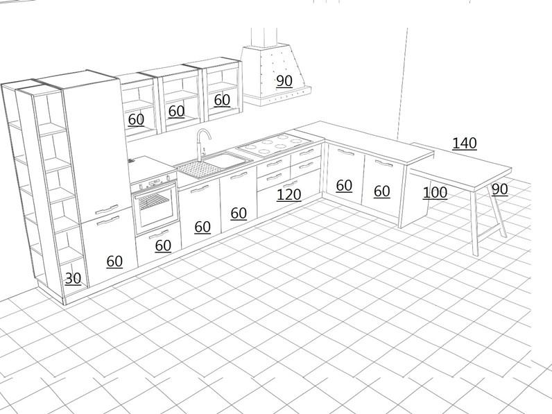 Offerta cucina con penisola e bancone cucine store misura for Penisola x cucina