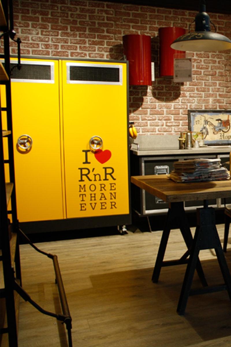 Offerta Cucina Dialma Brown Rock and Roll pannello listellare ...