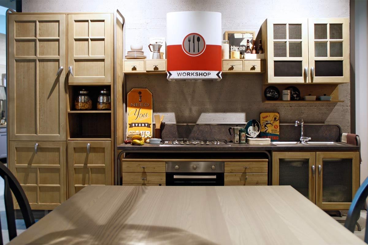 Offerta cucina dialma brown workshop legno essenza abete - Cucine dialma brown ...