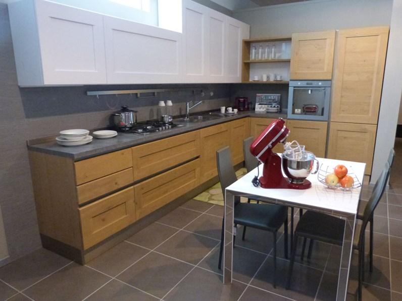 Offerta cucina dialogo di veneta cucina in legno massello rovere naturale - Cucine moderne in legno naturale ...
