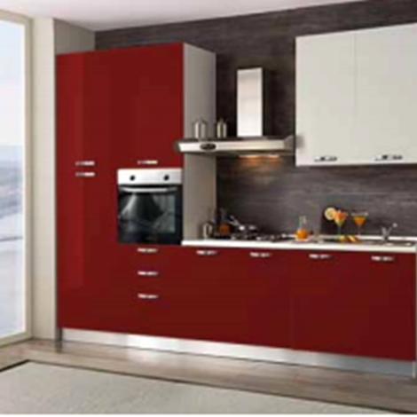 Cucina cucina verona moderna laccato lucido cucine a - Cucina 3 metri completa elettrodomestici indesit prezzi ...