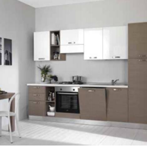 Cucina cucina verona moderna laccato lucido cucine a for Cucina 4 metri