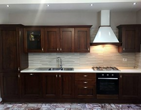OFFERTA cucina lineare anta legno NOCE (MISURA 390cm)