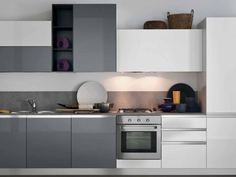 OFFERTA cucina lineare mod IRIS di CUCINE STORE (Misura 360cm)