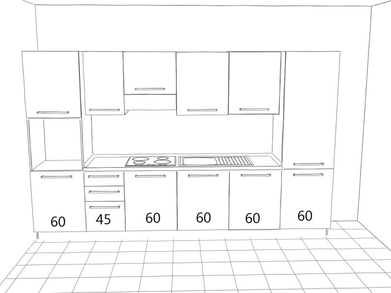 Offerta Cucina Lineare Zenice Di Cucinestore Misura 345cm
