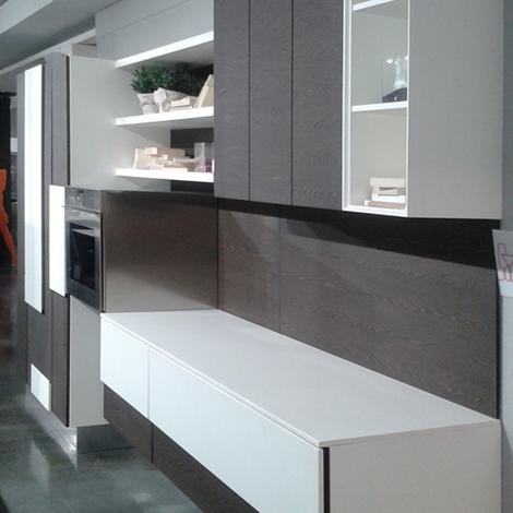 Cucine Lube cucine lube offerte : Offerta Cucina Lube Creativa in impiallacciato carruba e laccato ...