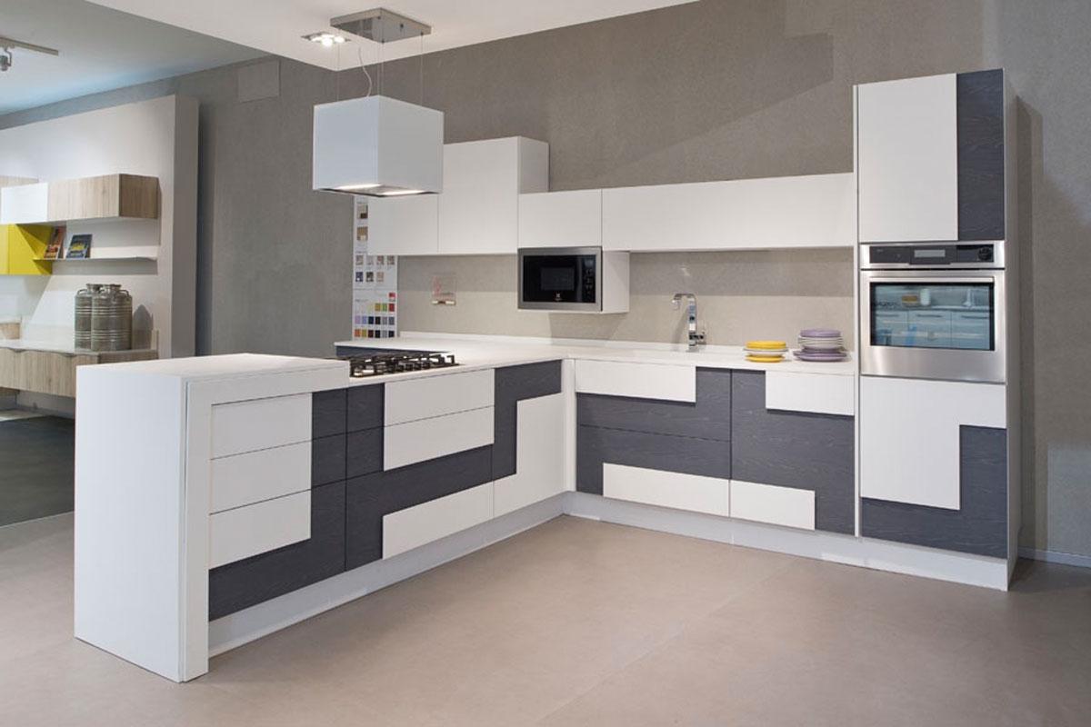 Offerta cucina lube creativa in impiallacciato petrolio e - Camere da letto moderne lube ...