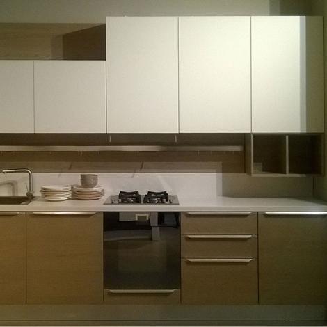 Offerta cucina lube pamela impiallacciato olmo grigio e laccato opaco bianco cucine a prezzi - Cucina laccato bianco ...