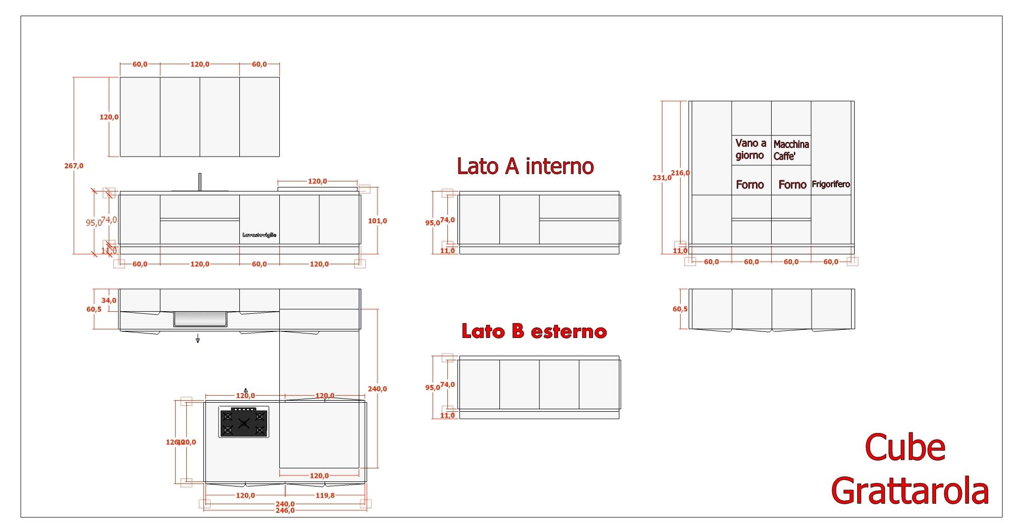 Offerta cucina massello cube cucine a prezzi scontati for Piano terra con 3 camere da letto con dimensioni pdf