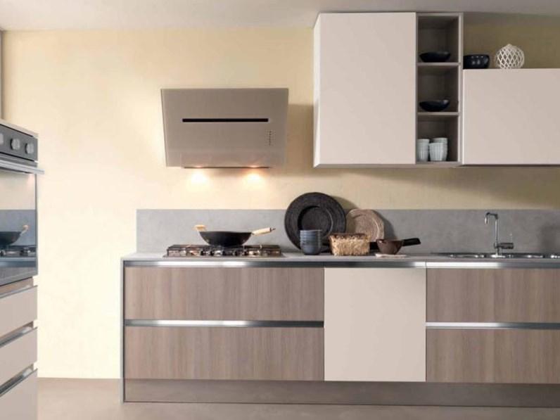 OFFERTA cucina modello IRIS di CUCINE STORE (misura 300cm +150cm colonne)