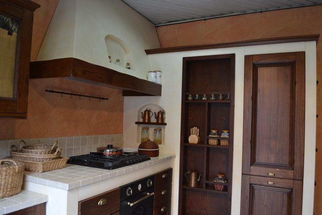 cucina copat cucine casale classica legno - cucine a prezzi scontati - Cucine In Finta Muratura In Offerta