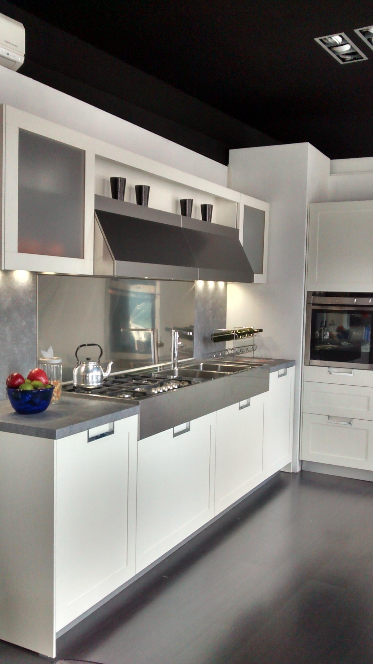 Cucina snaidero lux scontato del 60 cucine a prezzi - Cucina laccata bianca ...