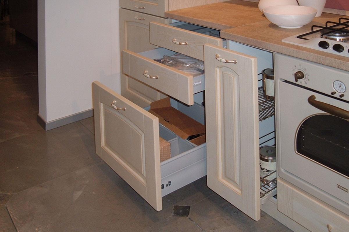 Offerta cucina stosa ginevra impiallacciato vaniglia - Cucina doppio angolo ...