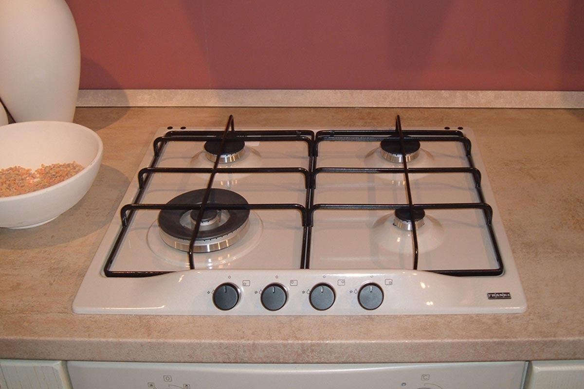 Offerta cucina stosa ginevra impiallacciato vaniglia for Cucina 5 fuochi 70x60