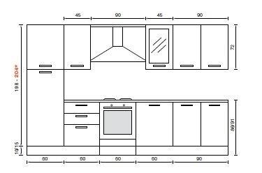 Offerta cucina cucine a prezzi scontati for Lavastoviglie misure standard
