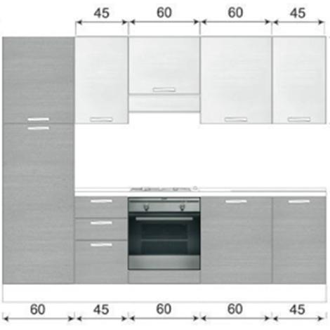 Cucina componibile misure lavello cucina una vasca - Misure cucine ikea ...