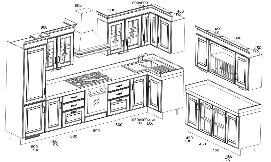 Cucine A Isola Dimensioni Duylinh For