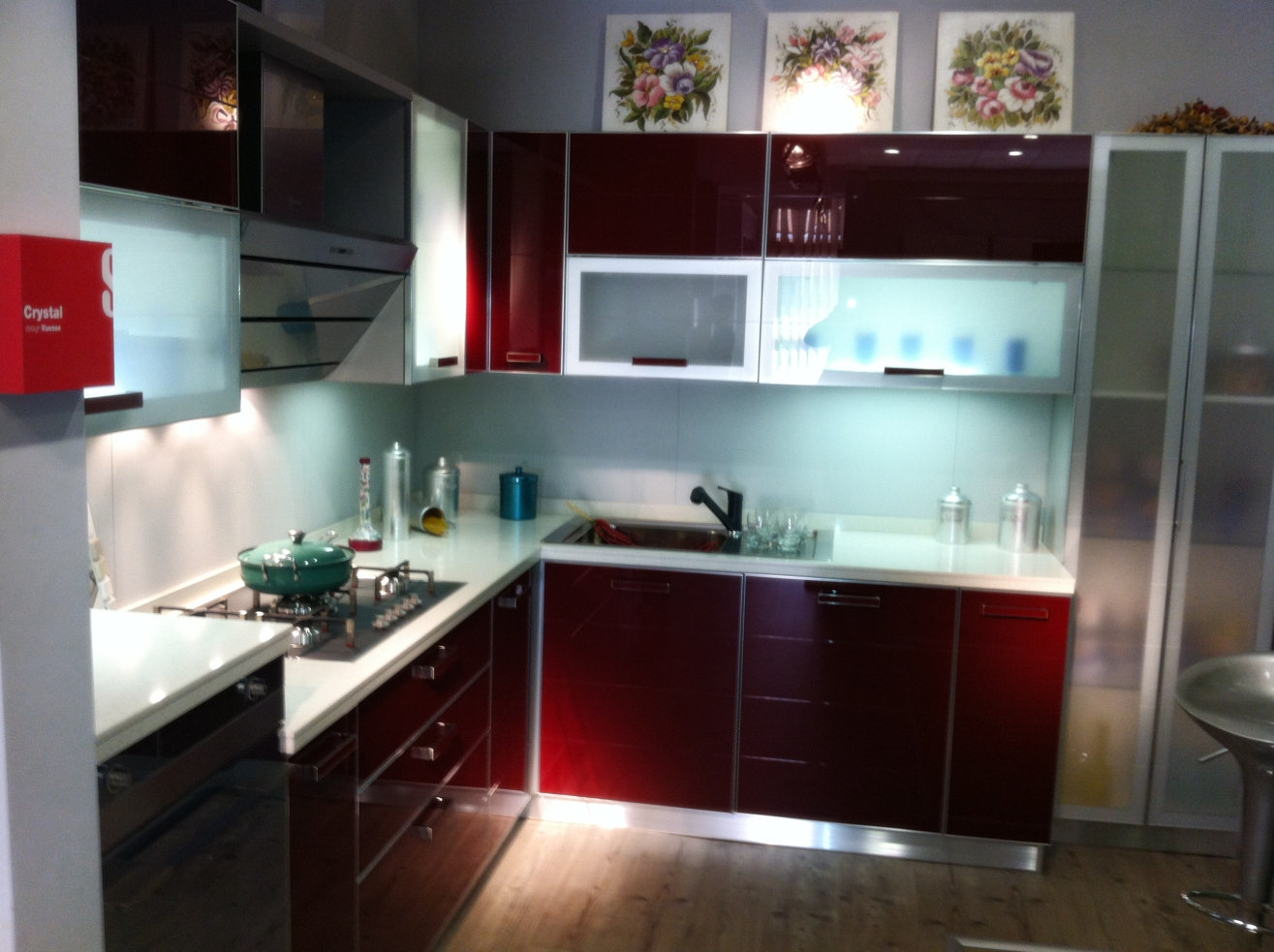 Cucine Moderne Bianche E Rosse. Latest Lumina Bertolotto Porte With ...