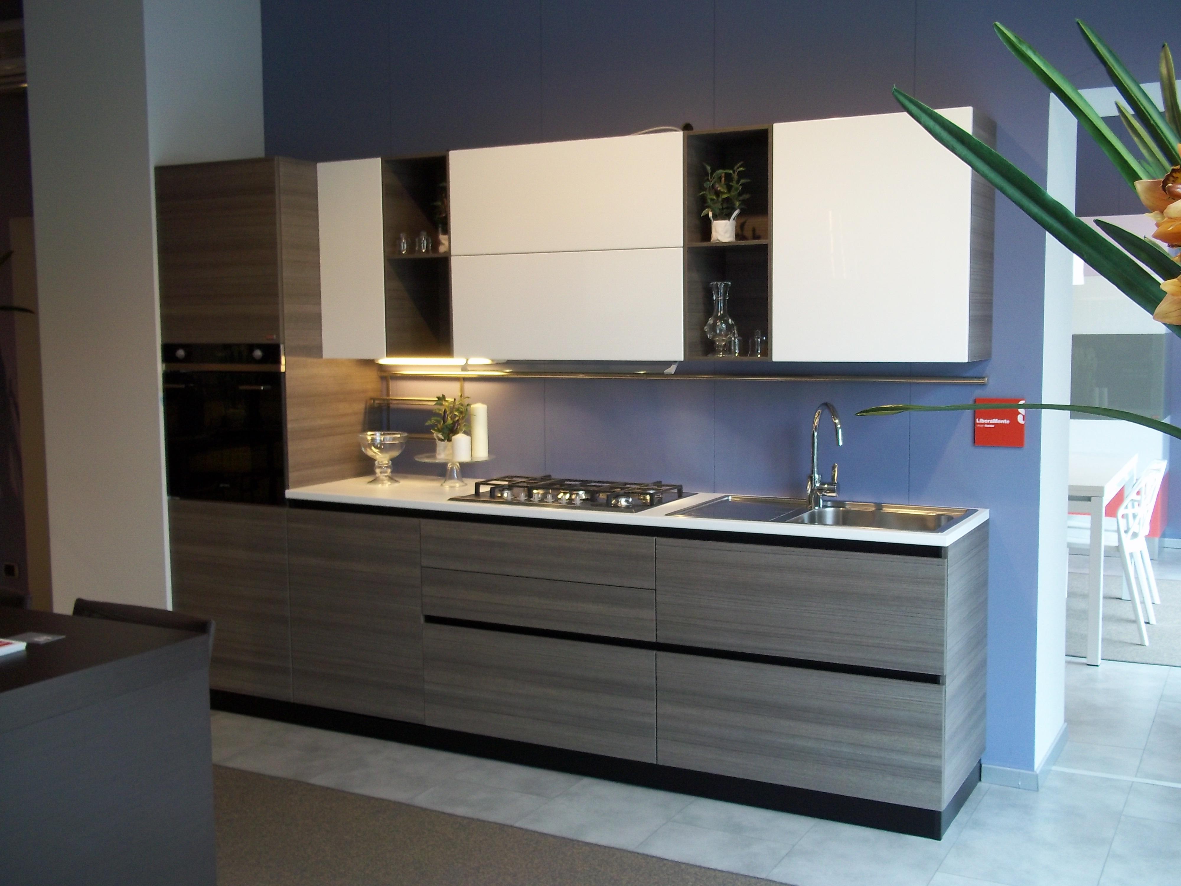 offerta scavolini liberamente 16503 - cucine a prezzi scontati - Cucine Bianche E Grigie Scavolini