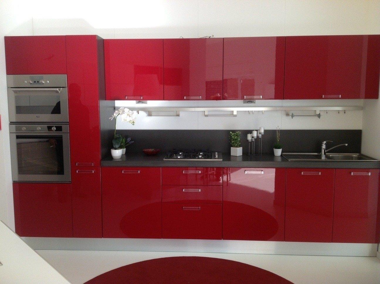 Offerta Scavolini Sax Rossa 4683 - Cucine a prezzi scontati