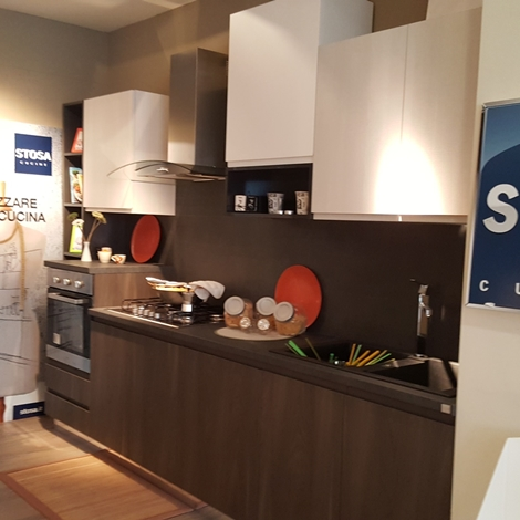 Stosa cucine cucina bring grigo lava bianco opaco e madre for Outlet cucine abruzzo
