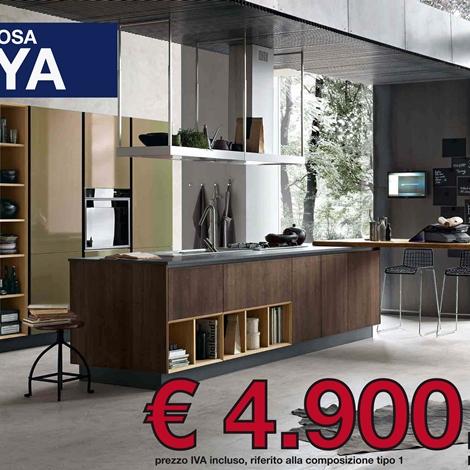 Promo cucina stosa maya 22224 cucine a prezzi scontati for Cucine in offerta prezzi